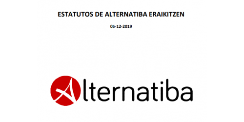 Alternatiba Eraikitzen. Estatutos actualizados. (5/12/2019)