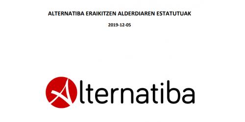 Alternatibaren Eraikitzen. Estatutu aldatuak. (2019/12/5)