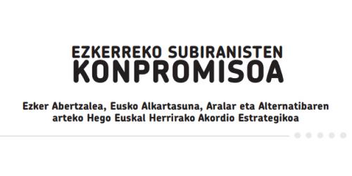 Ezkerreko subiranisten konpromisoa (2012/6/1)
